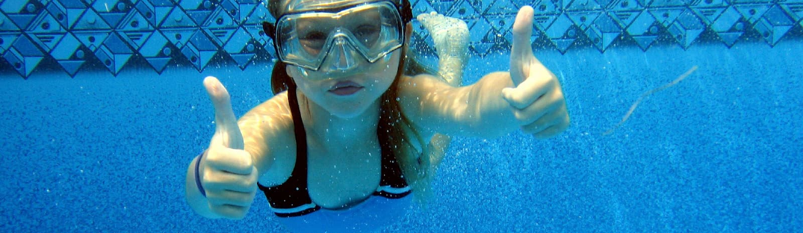 Girl Swimming in Pool - Alto Pacific Sunshine Coast