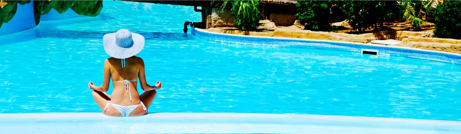 Meditating By Commercial Heated Pool - Alto Pacific Pty Ltd